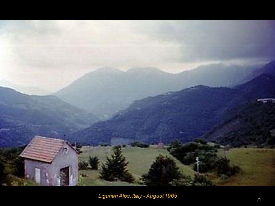 Ligurian Alps, Italy - August 1965 20