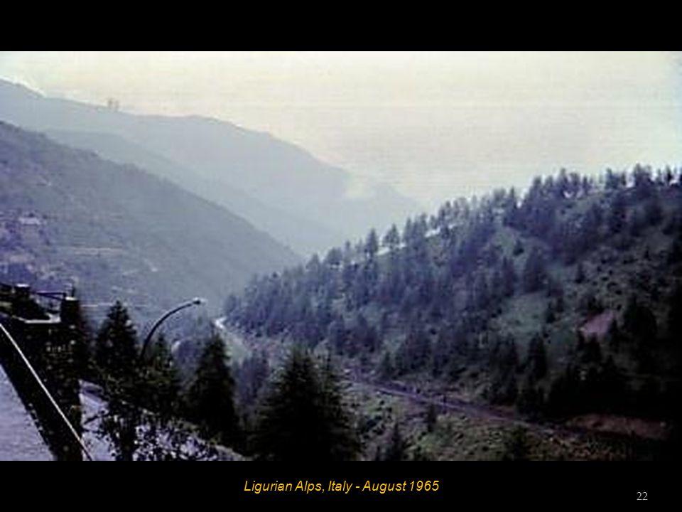 Ligurian Alps, Italy - August 1965 21