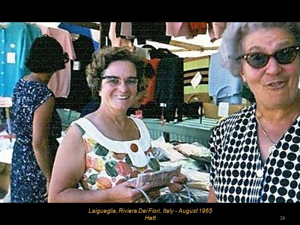 Laigueglia, Riviera Dei Fiori, Italy - August 1965 25