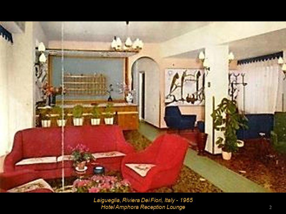 Laigueglia, Riviera Dei Fiori, Italy - 1965 Hotel Amphora Brochure 1
