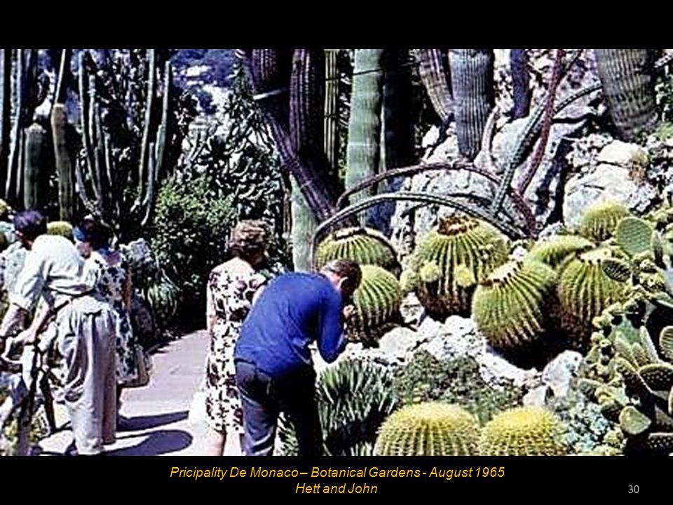 Principality De Monaco – Botanocal Gardens - August 1965 29