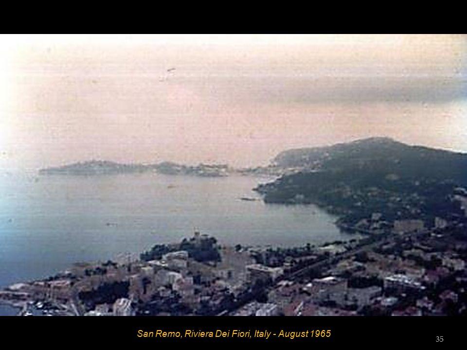 La Turbie, Principality De Monaco - Trophee Des Alps - August 1965 34