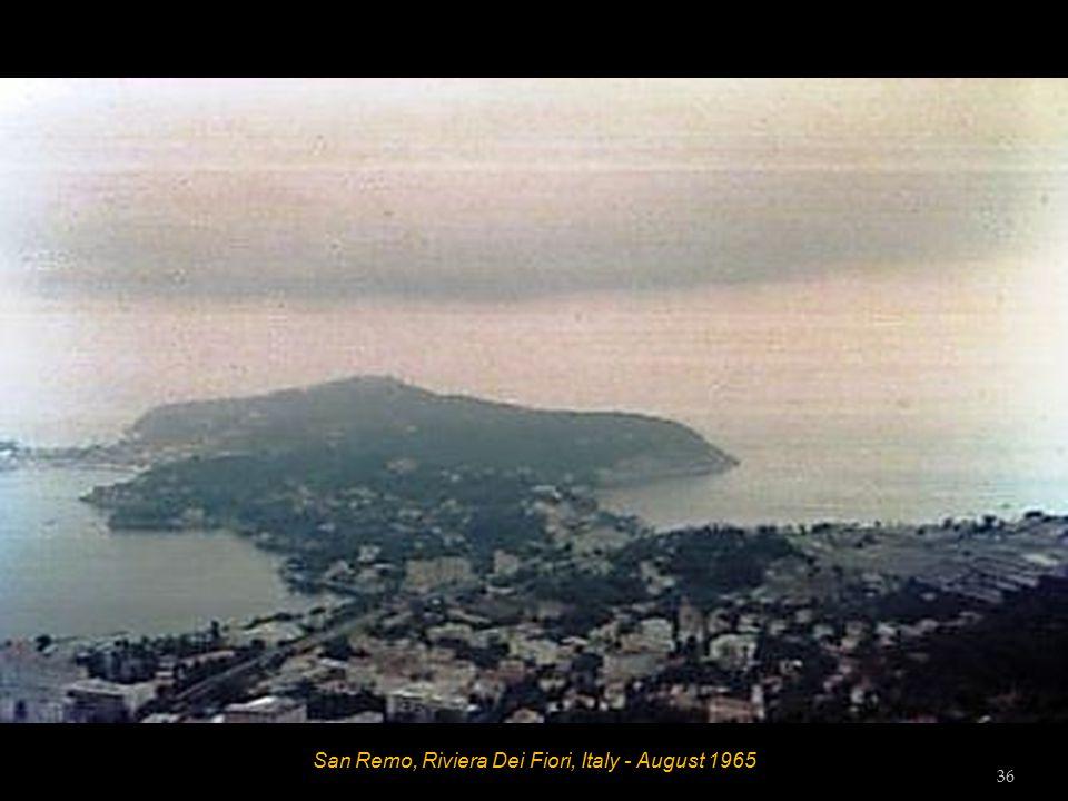 San Remo, Riviera Dei Fiori, Italy - August 1965 35