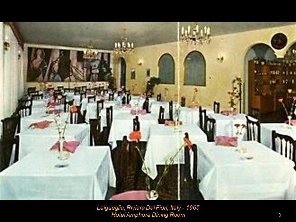 Laigueglia, Riviera Dei Fiori, Italy - 1965 Hotel Amphora Reception Lounge 2