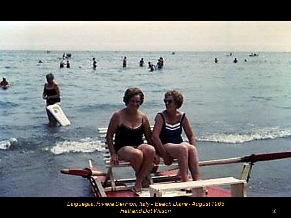 Laigueglia, Riviera Dei Fiori, Italy - Beach Diana - August 1965 John and Hett 39