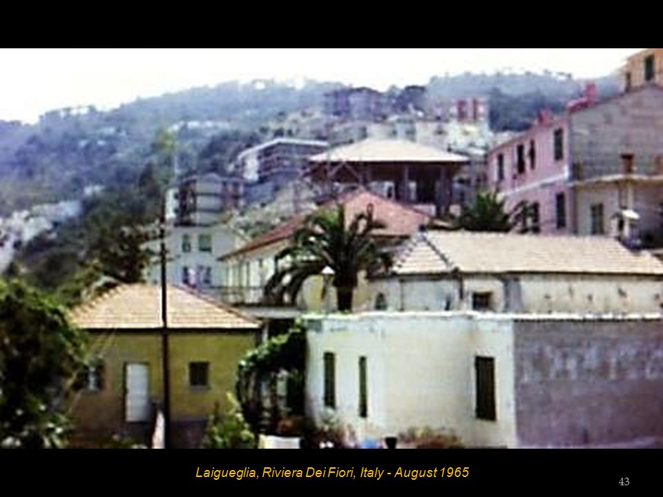 Laigueglia, Riviera Dei Fiori, Italy - Beach Diana - August 1965 42