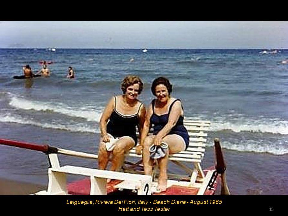 Laigueglia, Riviera Dei Fiori, Italy - Hotel Amphora - August 1965 44