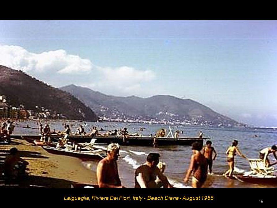 Laigueglia, Riviera Dei Fiori, Italy - Beach Diana - August 1965 Hett and Tess Tester 45