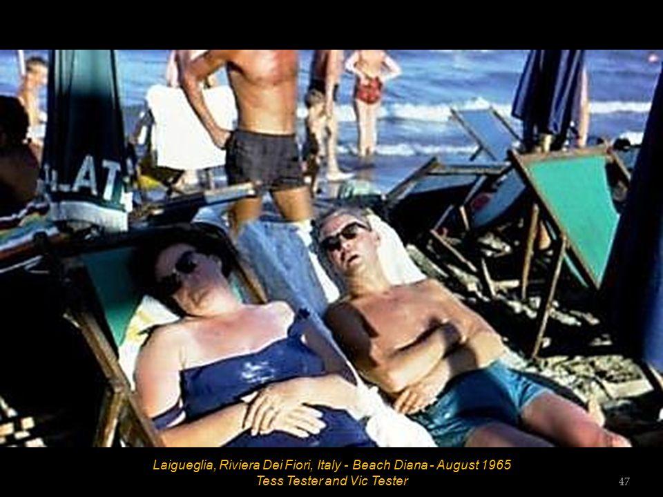 Laigueglia, Riviera Dei Fiori, Italy - Beach Diana - August 1965 46