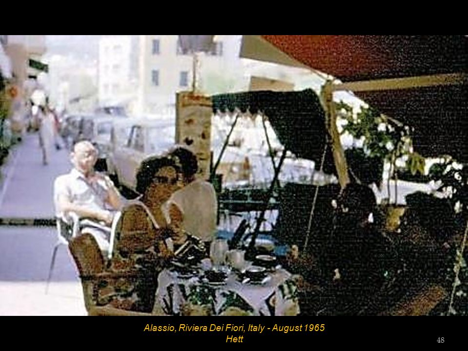 Laigueglia, Riviera Dei Fiori, Italy - Beach Diana - August 1965 Tess Tester and Vic Tester 47