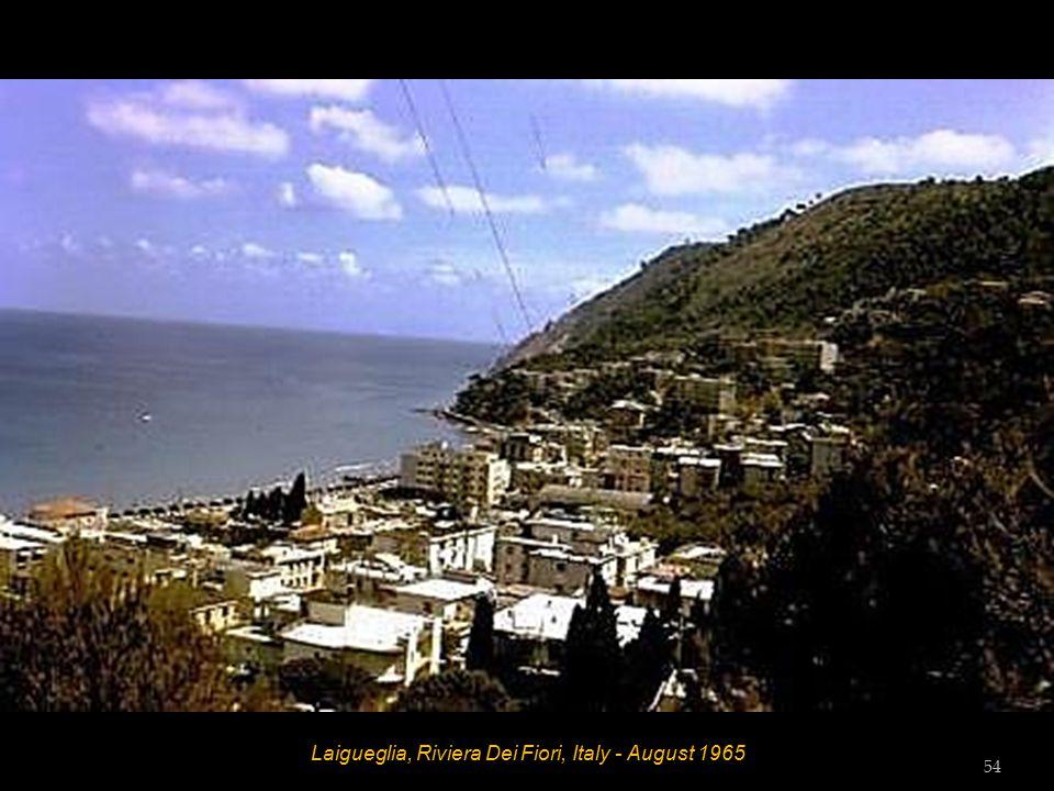 Laigueglia, Riviera Dei Fiori, Italy - August 1965 53