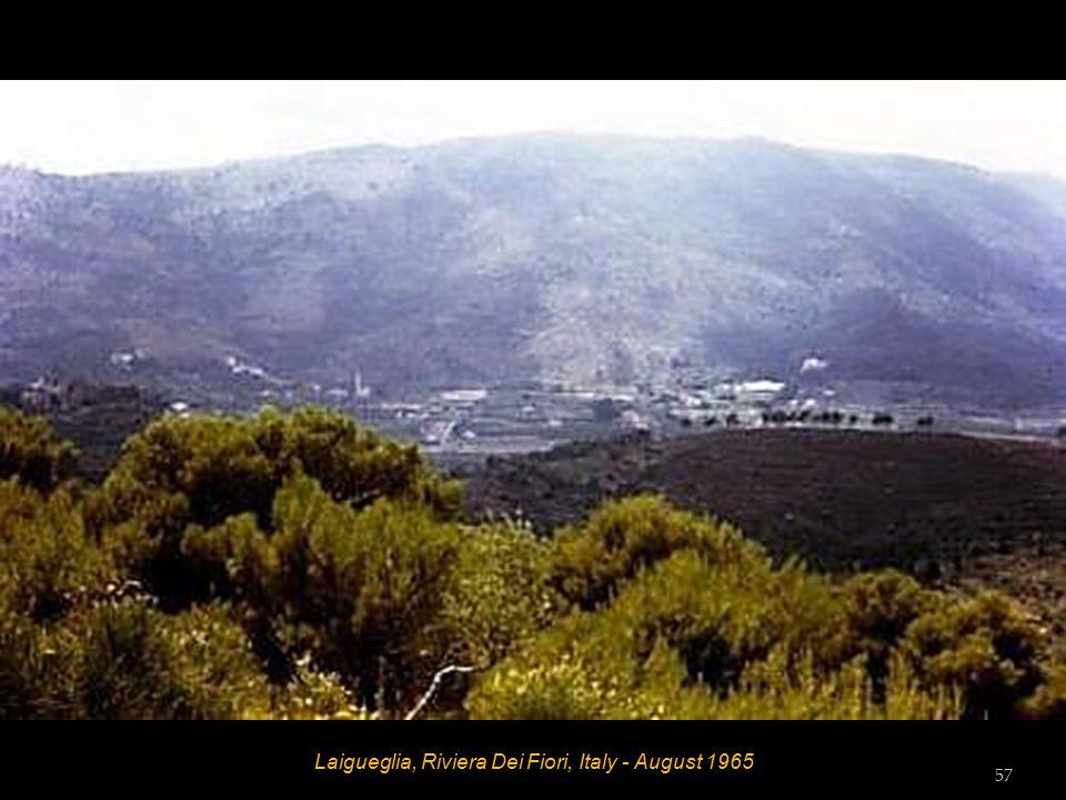 Laigueglia, Riviera Dei Fiori, Italy - August 1965 Bob 56