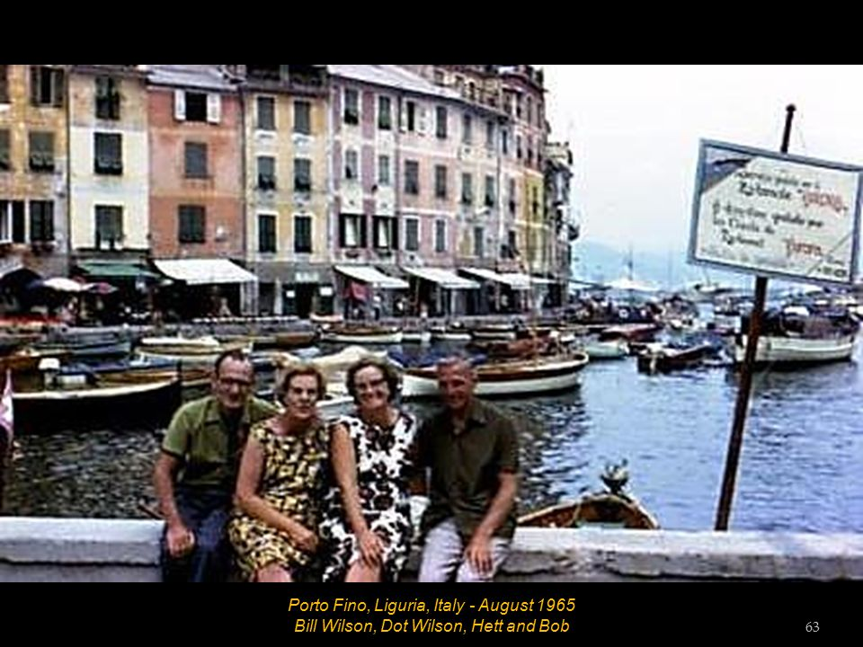 Porto Fino, Liguria, Italy - August 1965 Hett and Bob 62