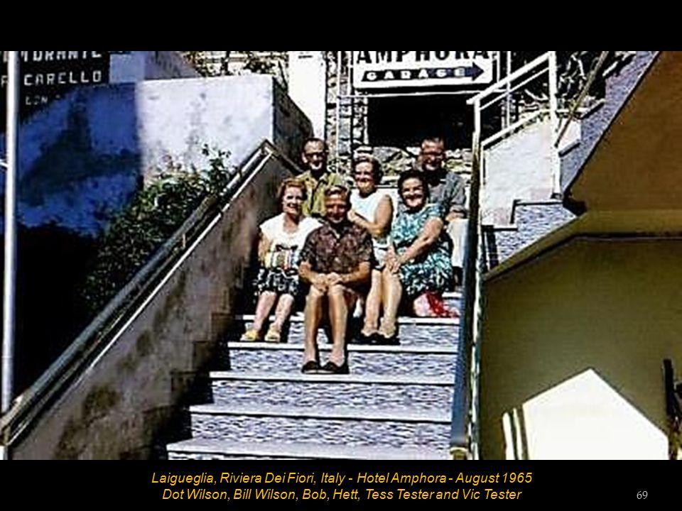 Laigueglia, Riviera Dei Fiori, Italy - Hotel Amphora - August 1965 Bob 68