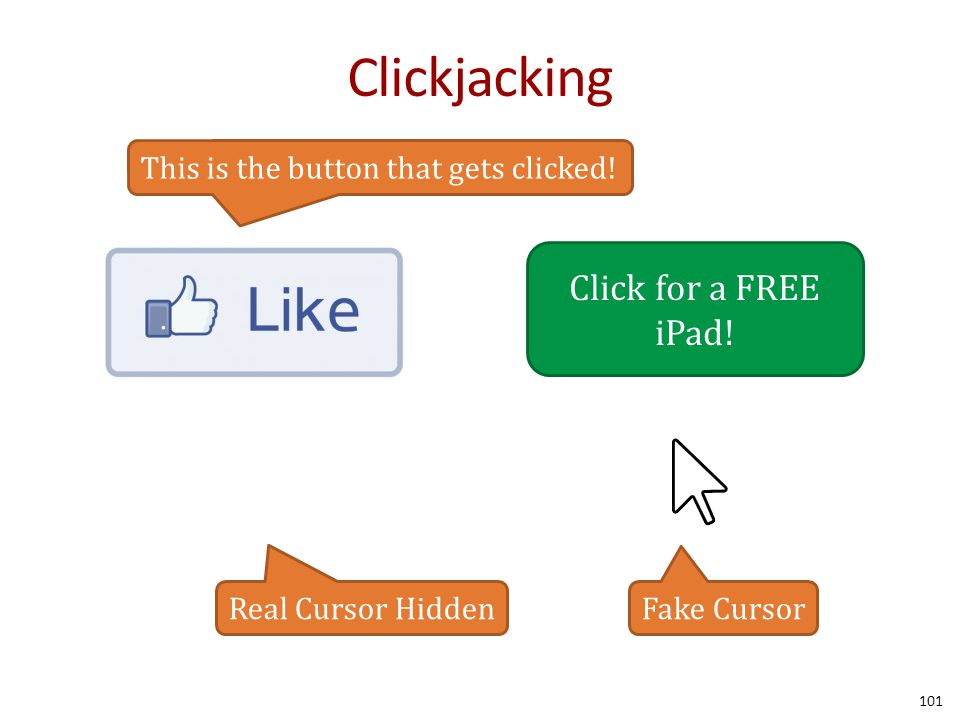 Clickjacking 101 Click for a FREE iPad.