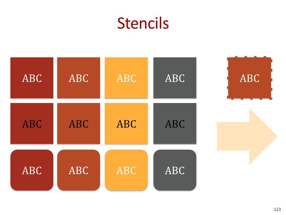 Stencils 123 ABC