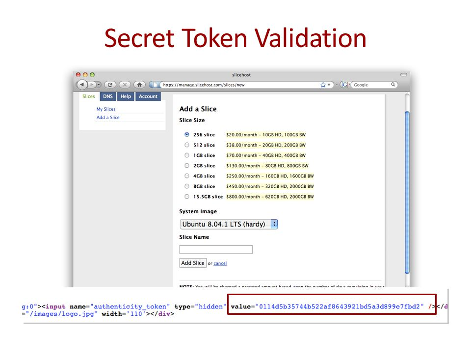 Secret Token Validation