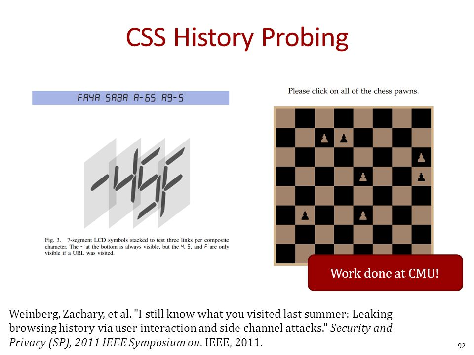CSS History Probing 92 Weinberg, Zachary, et al.