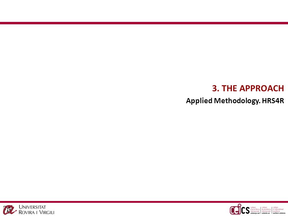 CG THE APPROACH Applied Methodology.
