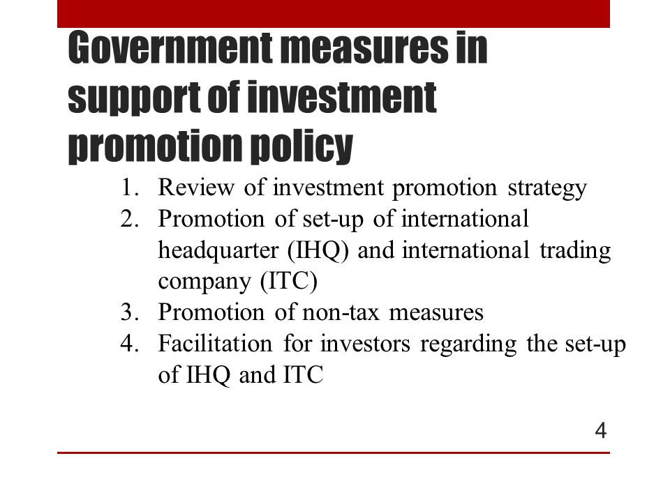 New Investment Promotion Strategy (2015-2021) 5 1.Promote investment that help enhance national competitiveness 2.Promote environment-friendly activities 3.Promote clusters in accordance with regional potential and strengthened value chain 4.Promote investment in southern border provinces 5.Promote special economic zone, especially in border areas 6.