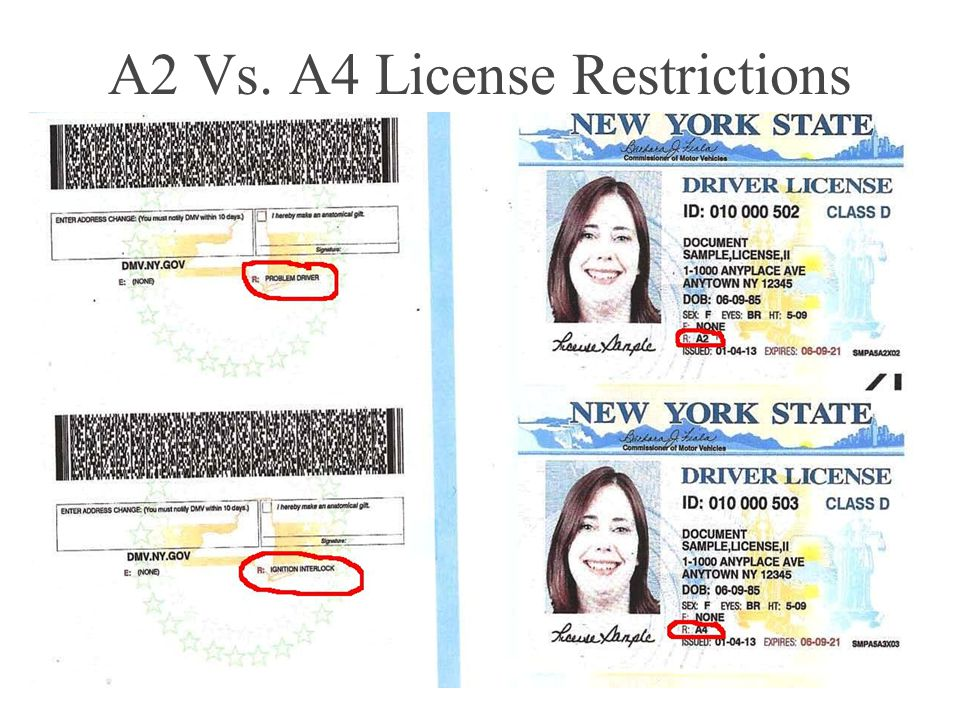 A2 Vs. A4 License Restrictions 5