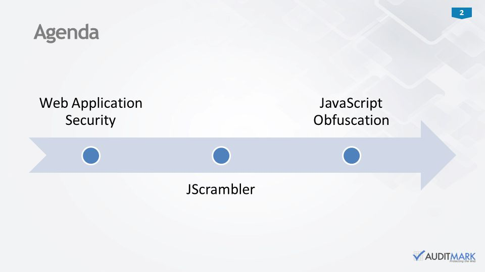2 Web Application Security JScrambler JavaScript Obfuscation Agenda
