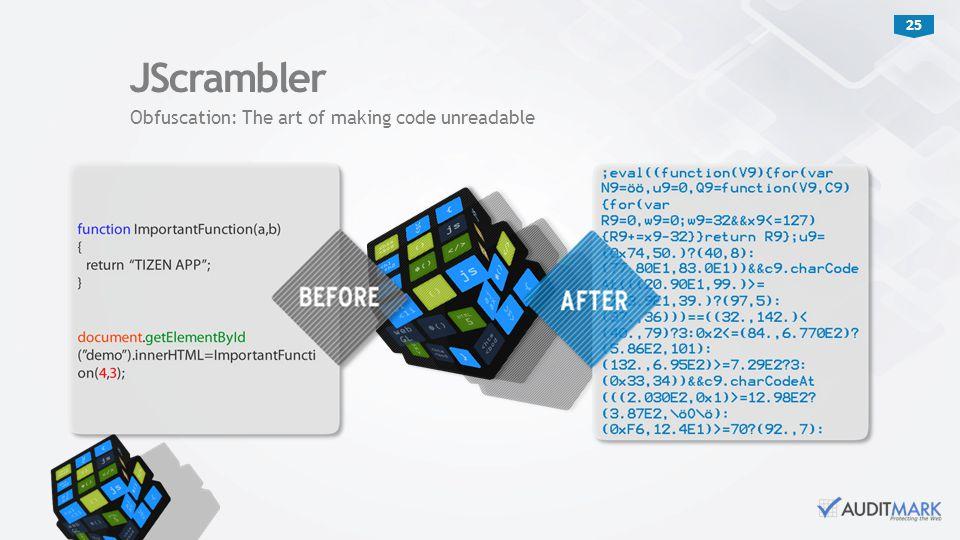 25 JScrambler Obfuscation: The art of making code unreadable