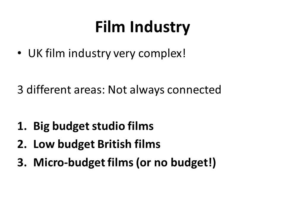 Film Industry UK film industry very complex.