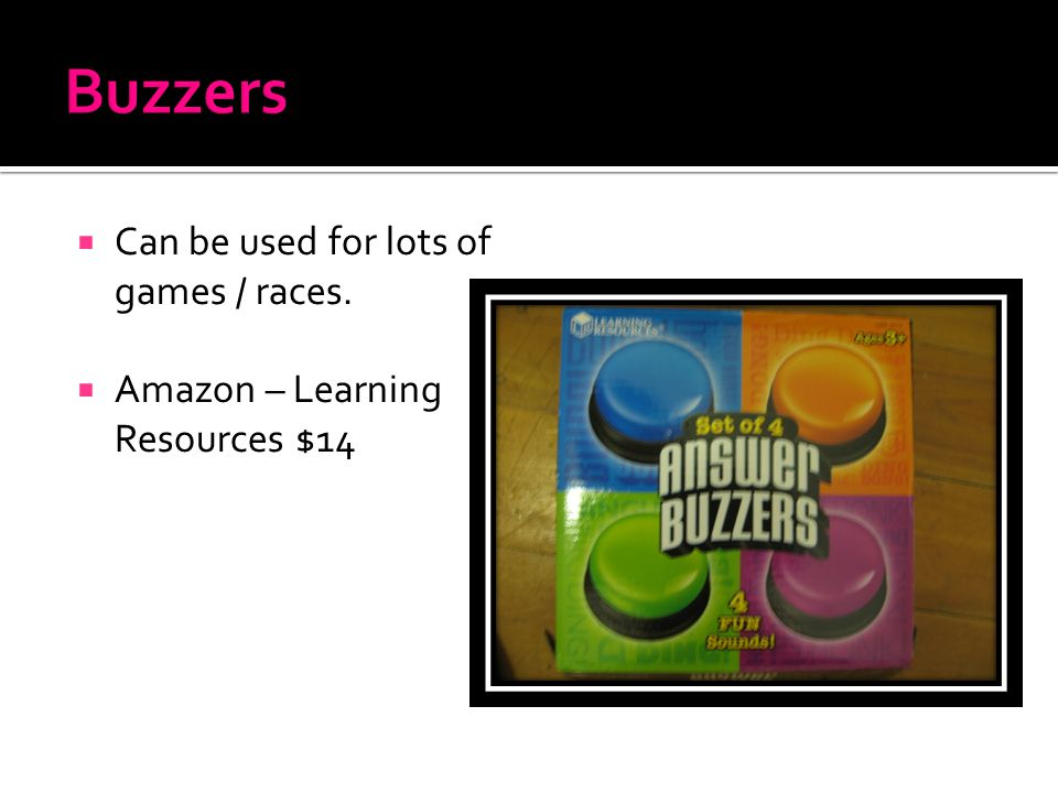  Can be used for lots of games / races.  Amazon – Learning Resources $14