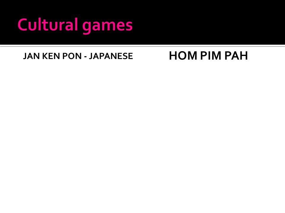 JAN KEN PON - JAPANESE HOM PIM PAH