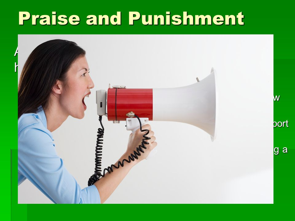 Praise and Punishment As a Post Officer you will encounter people helping out and doing a very spectacular job.