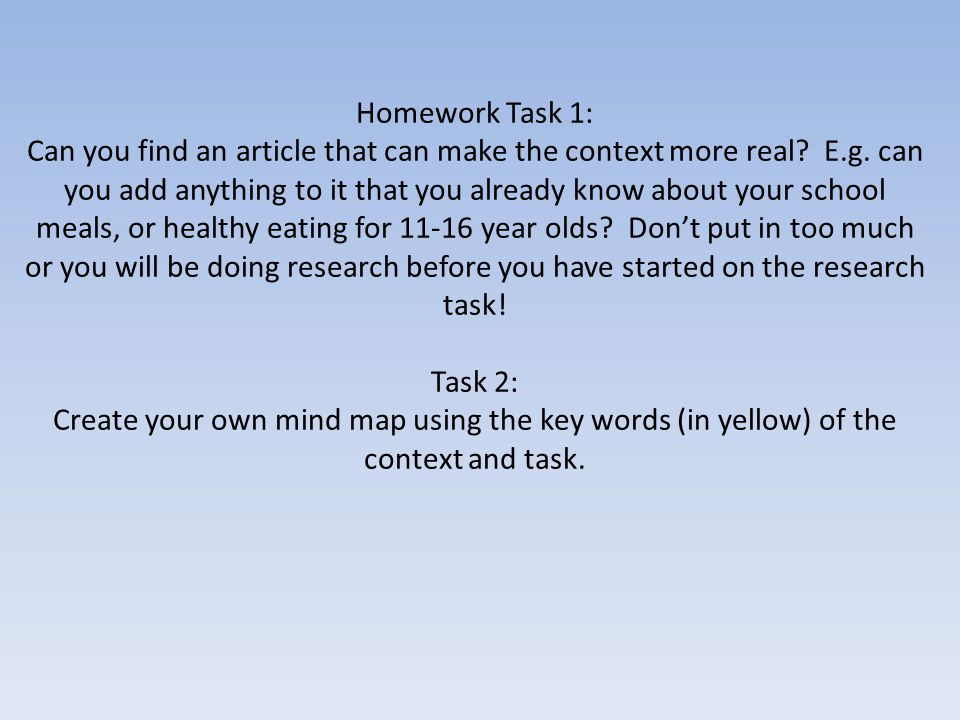 Homework Task 1: Can you find an article that can make the context more real.