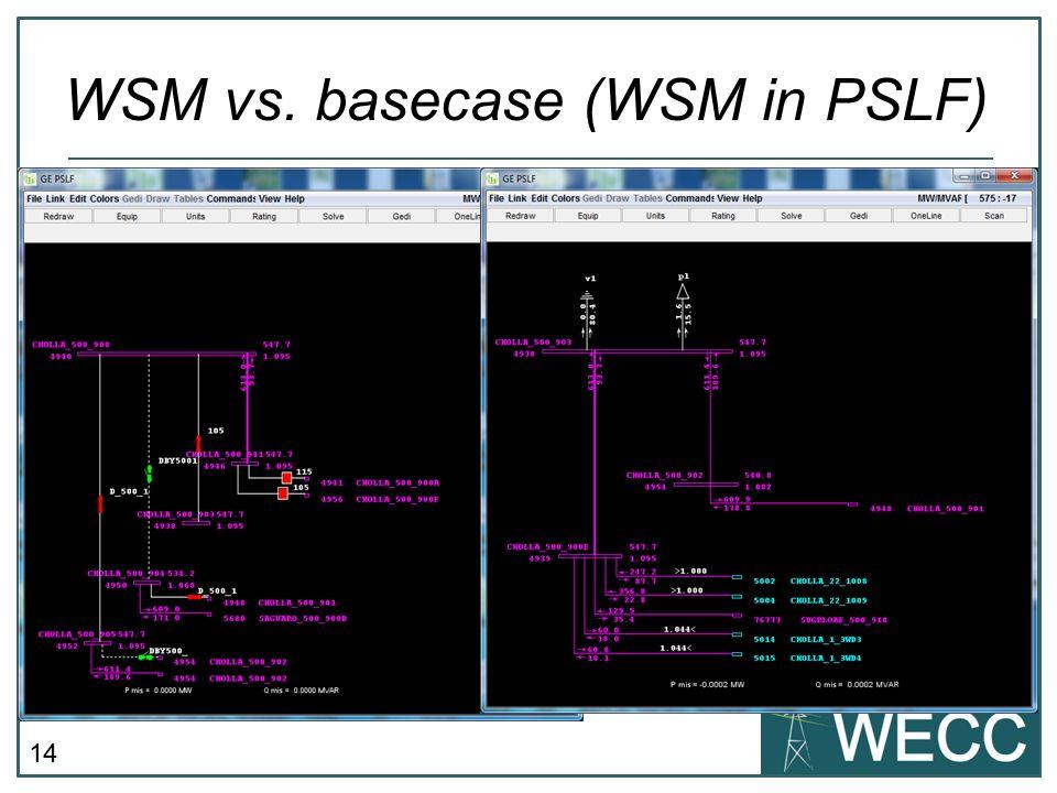 14 WSM vs. basecase (WSM in PSLF)