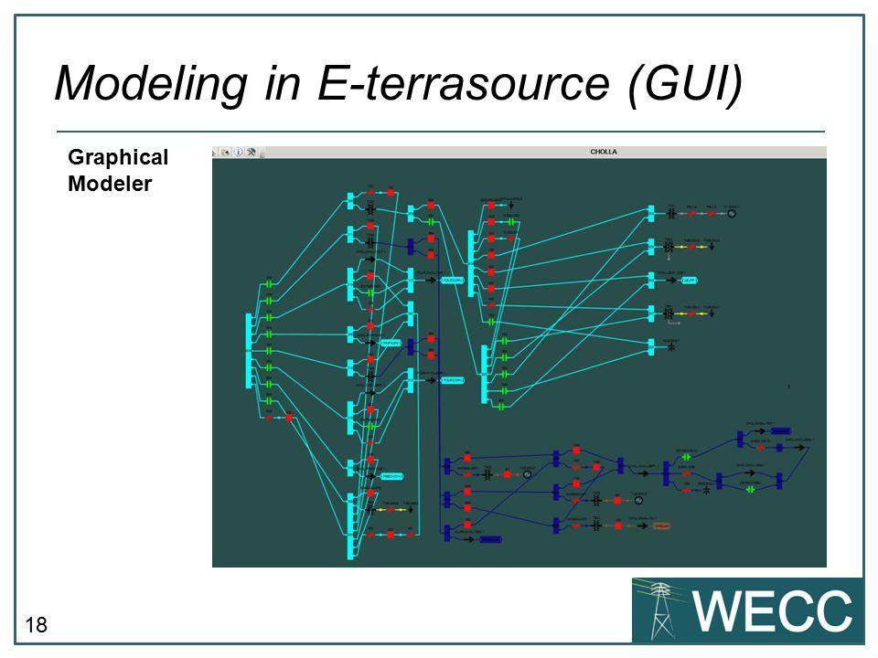 18 Modeling in E-terrasource (GUI) Graphical Modeler