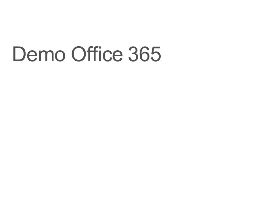 Demo Office 365