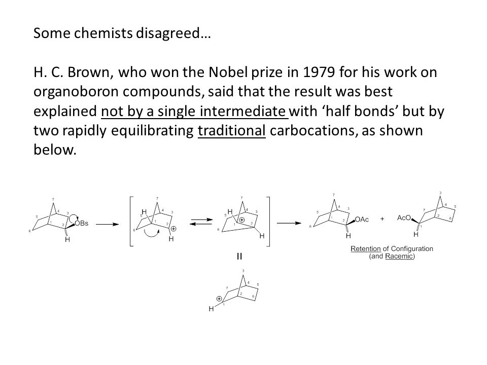 Some chemists disagreed… H. C.