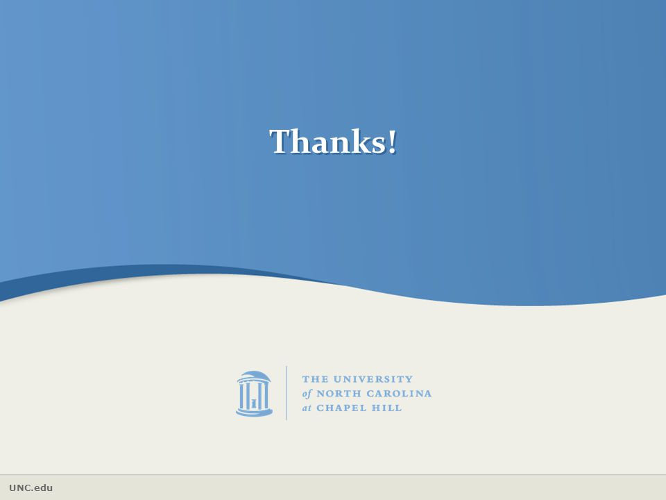 UNC.edu Thanks!