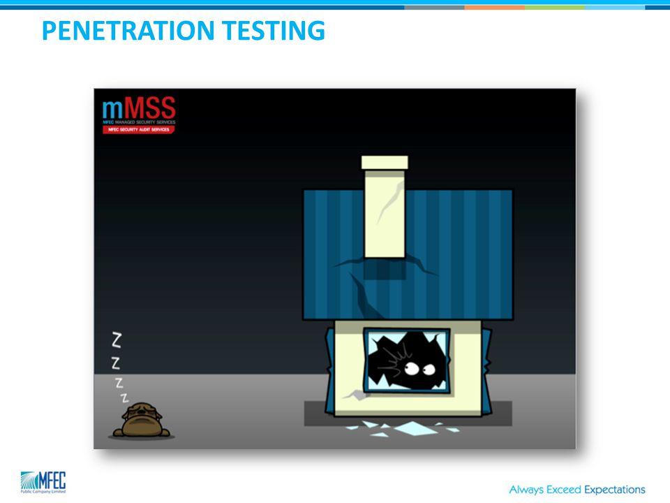 PENETRATION TESTING TYPE  Internal  External 1.Black box 2.White box 3.Grey box Reference : http://www.giac.org/cissp-papers/197.pdf