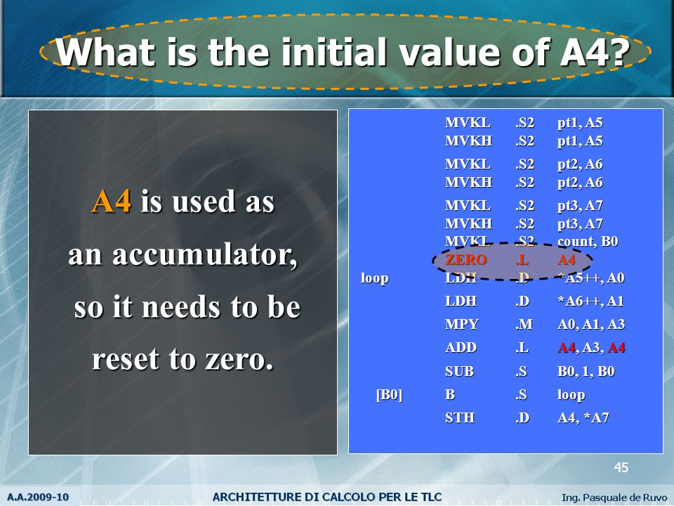 45 What is the initial value of A4.
