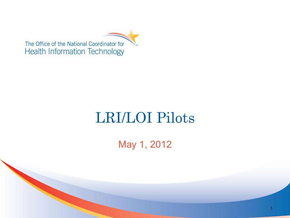 LRI/LOI Pilots May 1, 2012 1