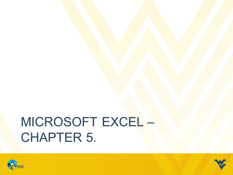 MICROSOFT EXCEL – CHAPTER 5.