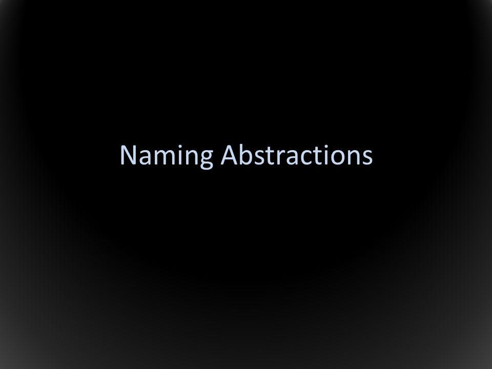 Naming Abstractions