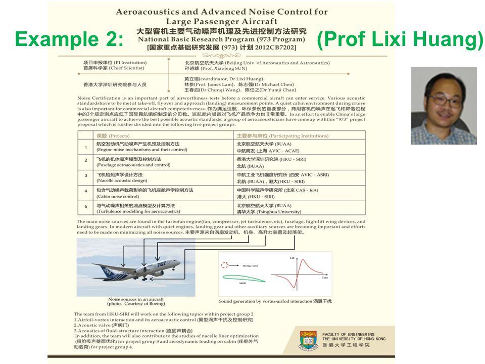 Example 2: (Prof Lixi Huang)