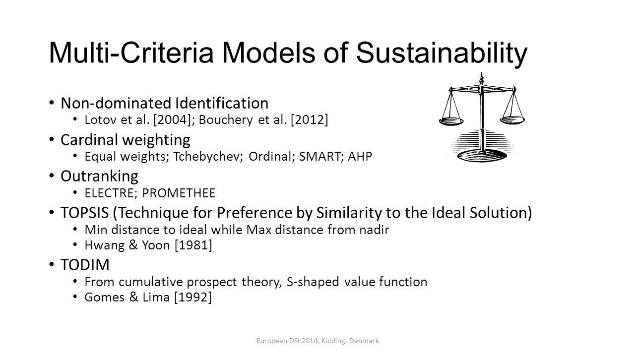 Multi-Criteria Models of Sustainability Non-dominated Identification Lotov et al.