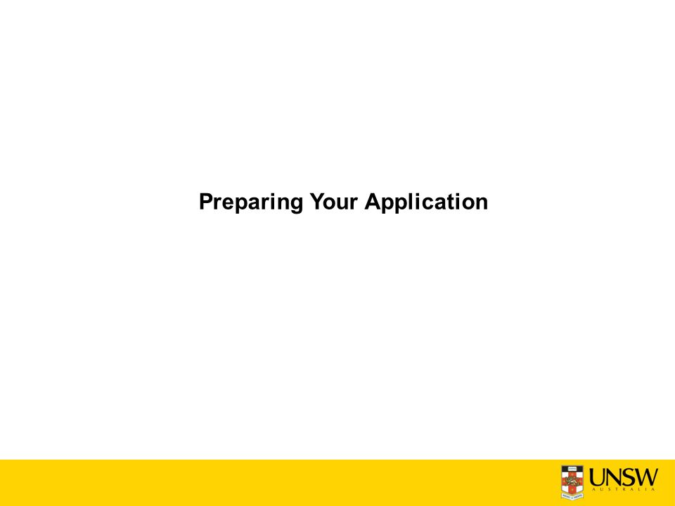 Preparing Your Application