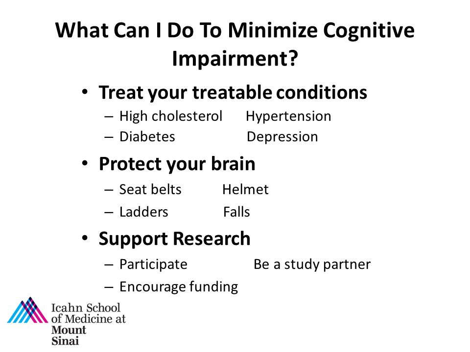What Can I Do To Minimize Cognitive Impairment.