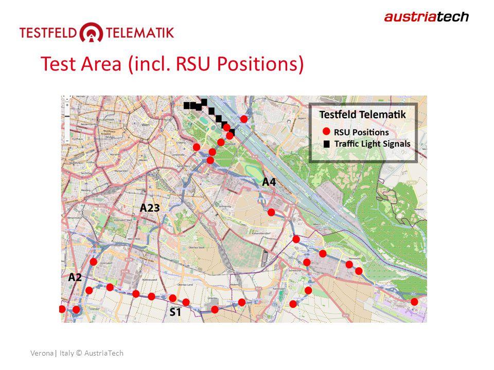 Verona| Italy © AustriaTech Test Area (incl. RSU Positions)