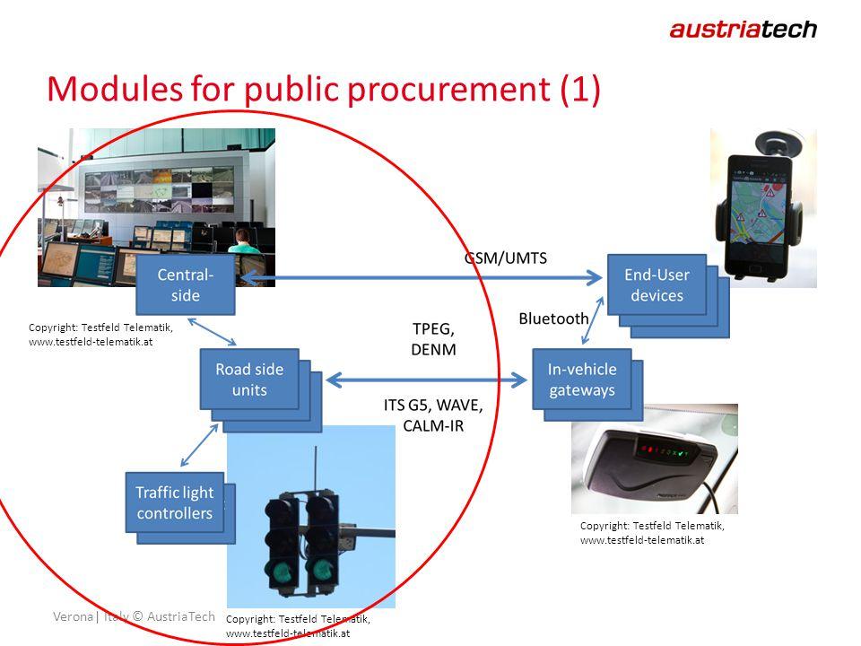 Verona| Italy © AustriaTech Modules for public procurement (1) Copyright: Testfeld Telematik, www.testfeld-telematik.at