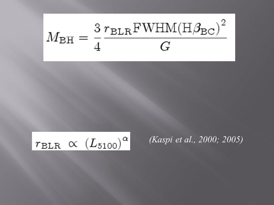 (Kaspi et al., 2000; 2005)