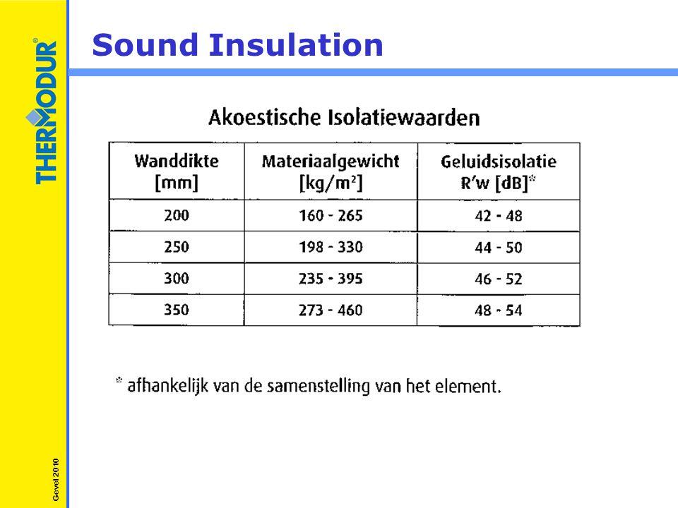 Sound Insulation Gevel 2010
